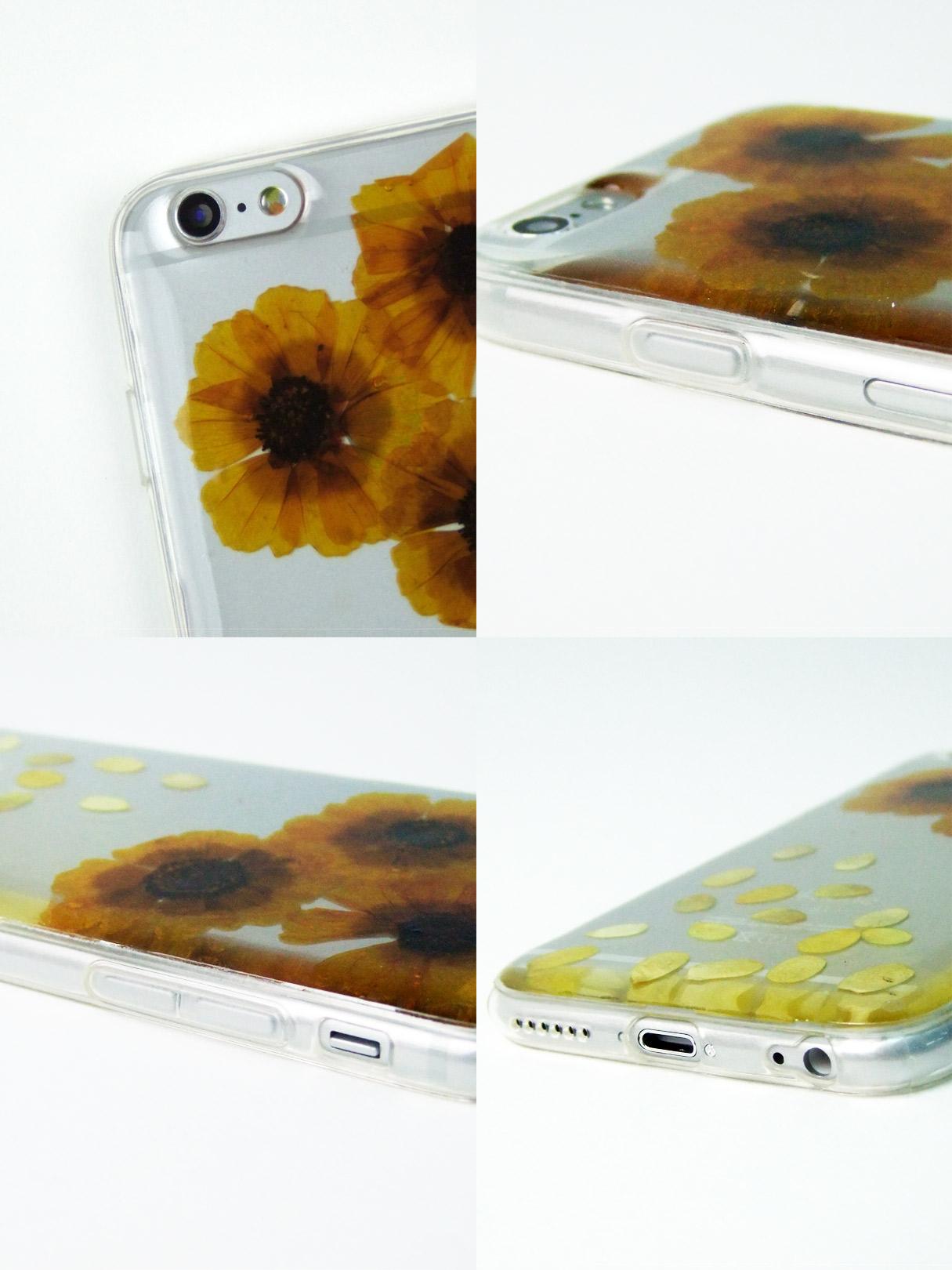 リアル押し花iPhoneケースドライフラワー